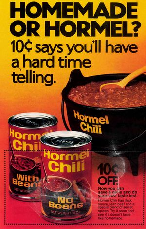 Hormel Chili Ads - 1970's II